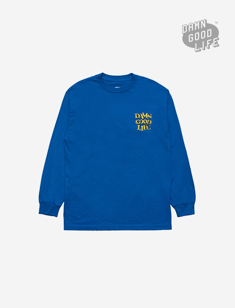 DAMNGOODLIFE LONGSLEEVE - ROYAL brownbreath