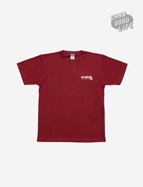 UNAVOIDABLE TEE - BURGUNDY brownbreath