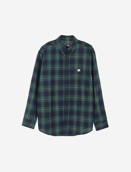 TAG CHECK SHIRTS - GREEN brownbreath