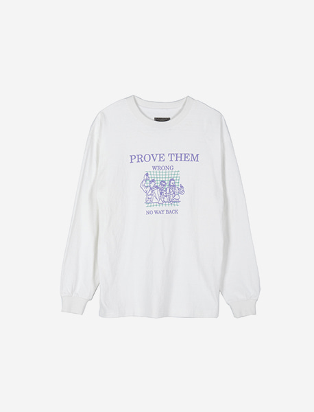 PROVE LONGSLEEVE - WHITE brownbreath