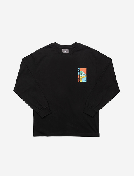 NEED REST LONGSLEEVE - BLACK brownbreath