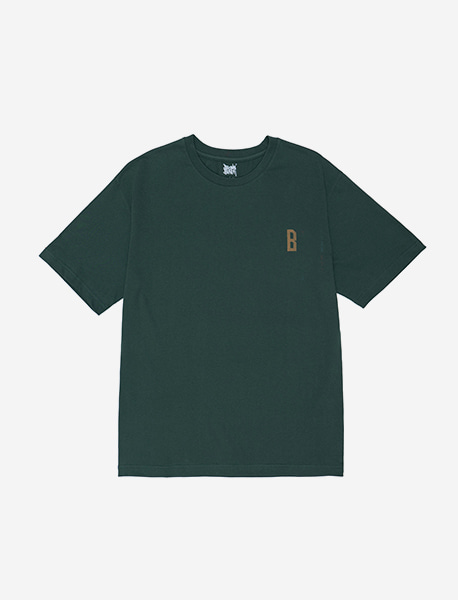 DON`T CARE TEE - GREEN brownbreath