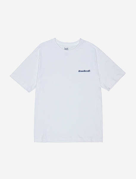 B TYPE TEE - WHITE brownbreath
