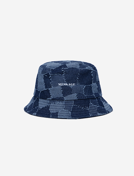 MESS AGE BUCKET HAT - INDIGO brownbreath