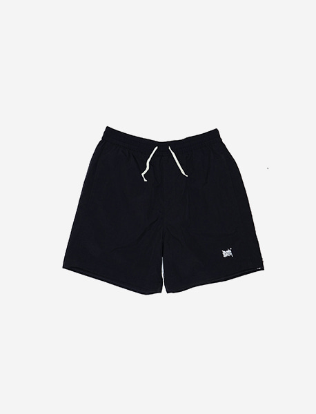 TAG SHORT PANTS - BLACK brownbreath