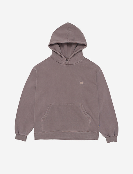 TAGGING DYE HOODIE - PURPLE brownbreath