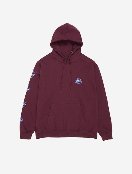 HELL UP HOODIE - PURPLE brownbreath