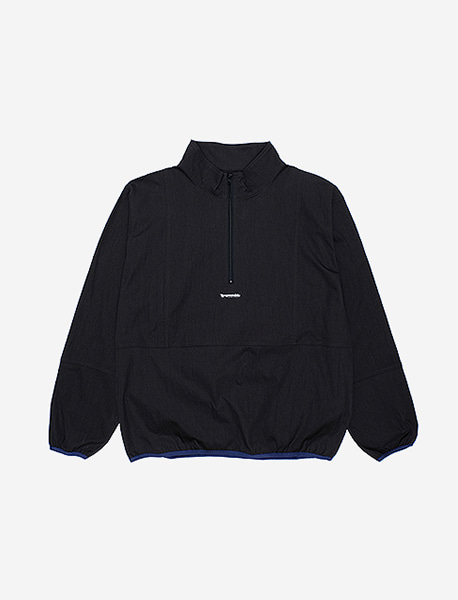 RB HALFZIP CREWNECK - BLACK brownbreath