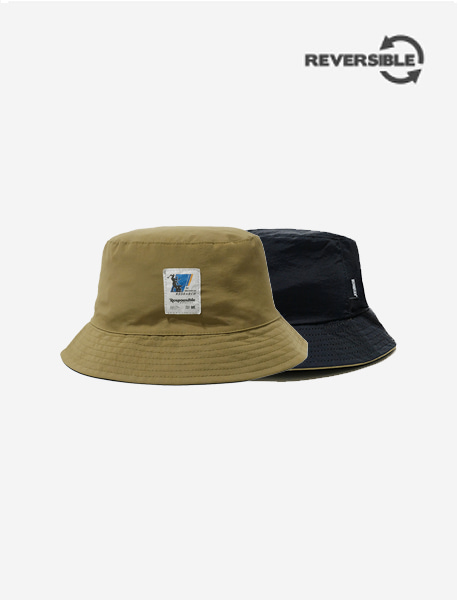 RB REVERSIBLE BUCKET HAT - BLACK brownbreath