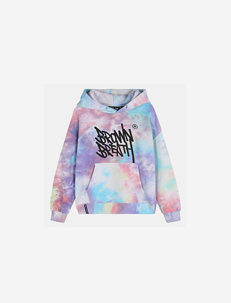 [KIDS] TIE DYE HOODIE - PURPLE brownbreath