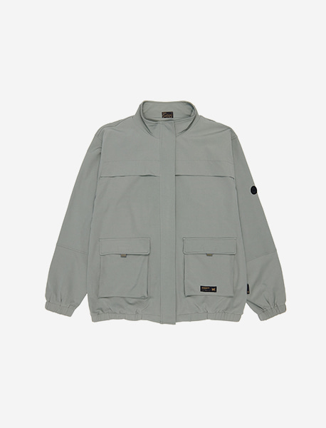DEFS UTILITY BLOUSON - MINT GREY brownbreath