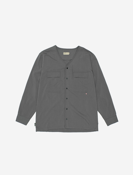 NGRD WOOVEN CARDIGAN - CHARCOAL brownbreath