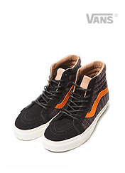 SK8-HI REISSUE CA - BLACK / BURNT ORANGE brownbreath