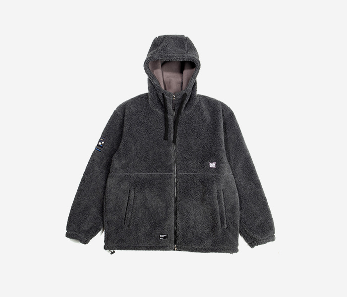 BB BOA FLEECE JACKET - CHARCOLE brownbreath