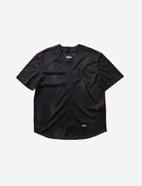 W.A.M BASEBALL SHIRTS - BLACK brownbreath