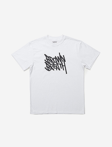 10th ANNIVERSARY TEE - WHITE brownbreath