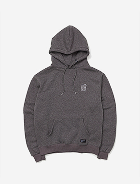 B MOVE HOODIE - CHARCOAL brownbreath