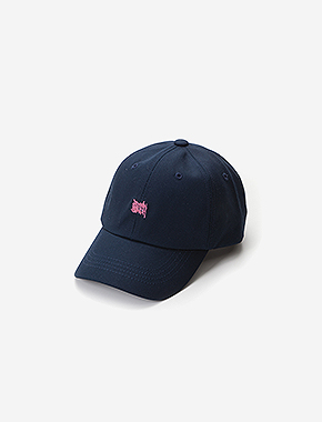 TAGGING CURVED CAP - NAVY brownbreath