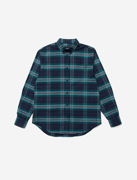 B MOVE CHECK SHIRT - GREEN brownbreath