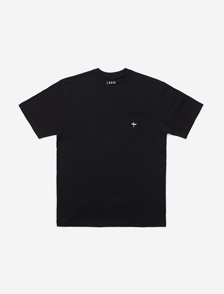 SURF POCKET TEE - BLACK brownbreath