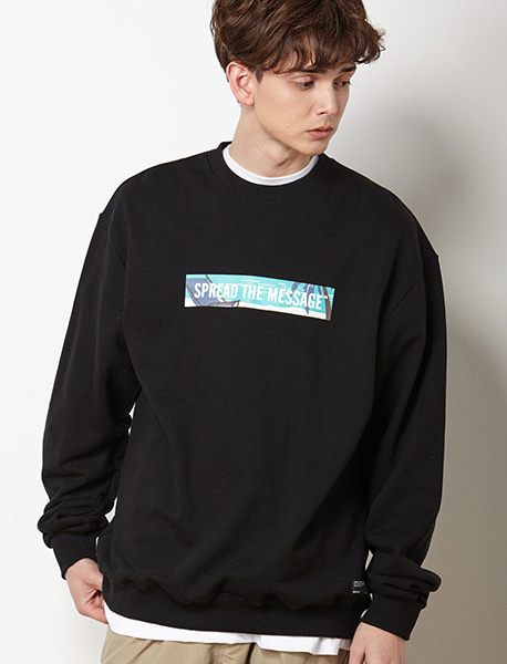 STM CREWNECK LBC - BLACK brownbreath