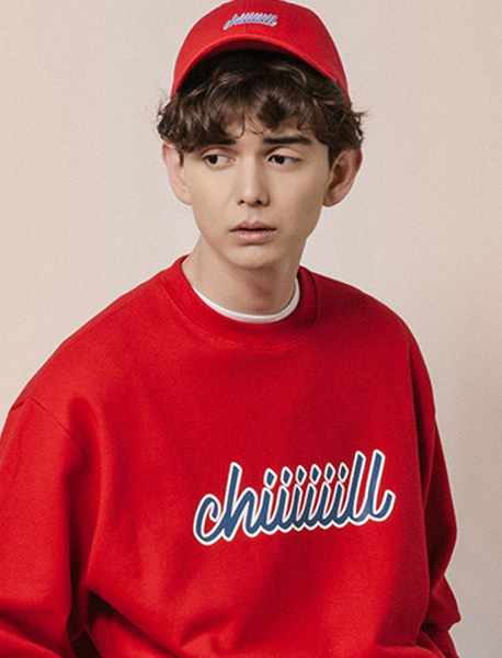 CHIIIILL CREWNECK - RED brownbreath