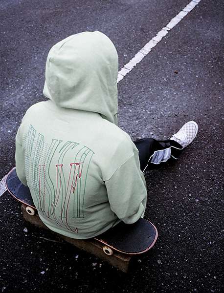 TWISTED HOODIE - PALE GREEN brownbreath