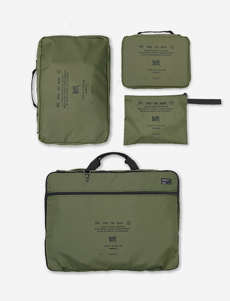 STIN TRAVEL CASE SET - KHAKI brownbreath
