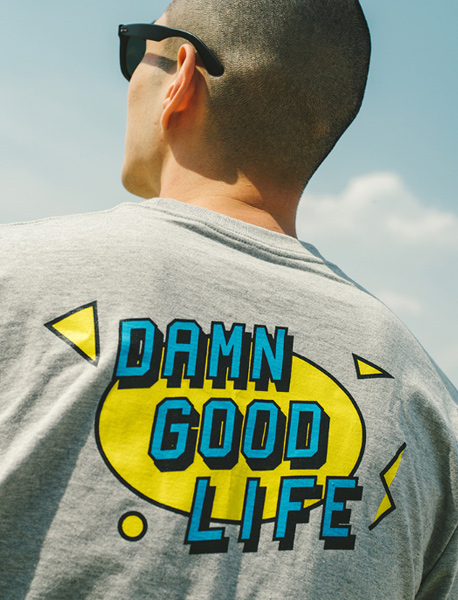 DAMN GOOD LIFE - GREY brownbreath