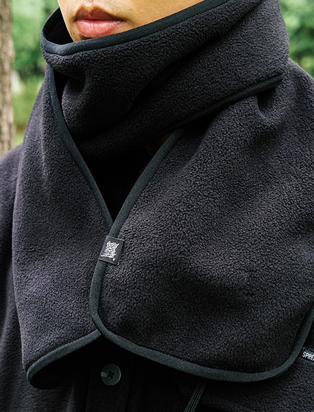 NOMAD FLEECE MUFFLER - BLACK brownbreath