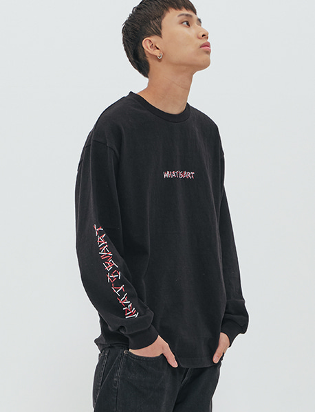 WIA LONGSLEEVE - BLACK brownbreath