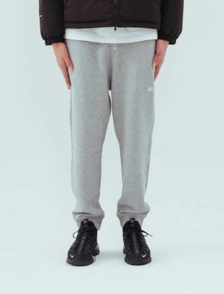 TAG SWEAT PANTS - GREY brownbreath