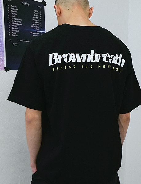 B TYPE TEE - BLACK brownbreath
