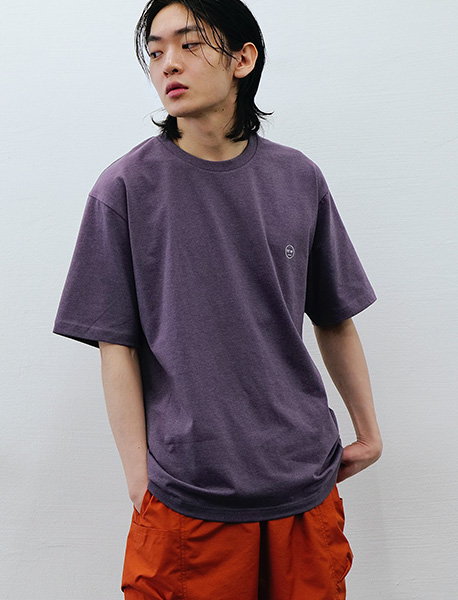 BB CIRCLE TEE - PURPLE brownbreath