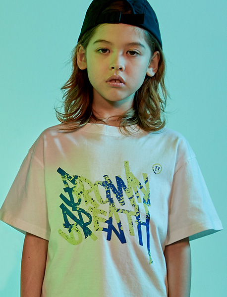 [KIDS] SPLASH TEE - WHITE brownbreath