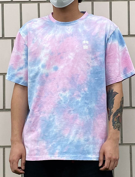 STM TIE DYE TEE - BLUE brownbreath