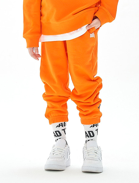 [KIDS] TAG SWEAT PANTS - 4 colors brownbreath