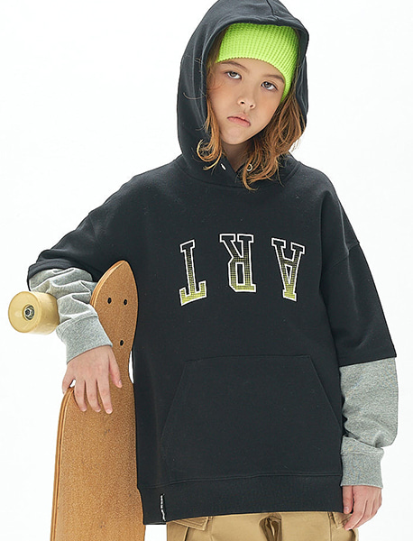 [KIDS] LAYERD HOODIE - 2 colors brownbreath