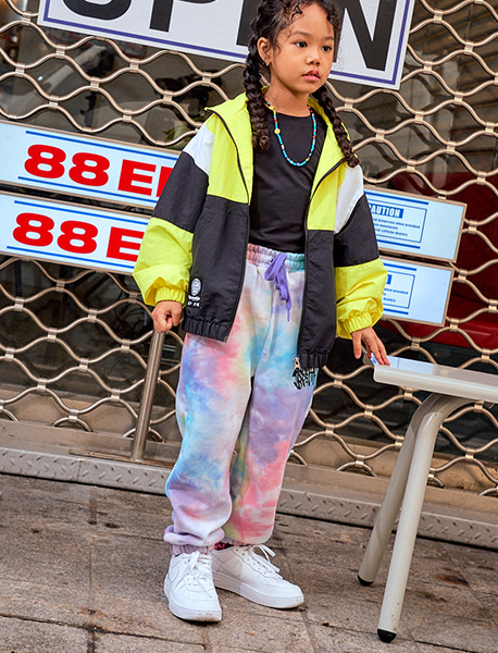 [KIDS] TIE DYE SWEAT PANTS - PURPLE brownbreath
