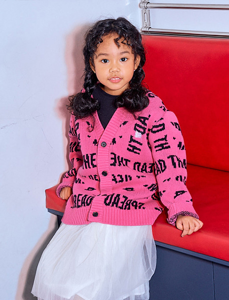 [KIDS] STM CARDIGAN - PINK brownbreath