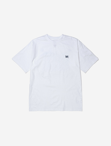 TAG WAVE TEE - WHITE brownbreath