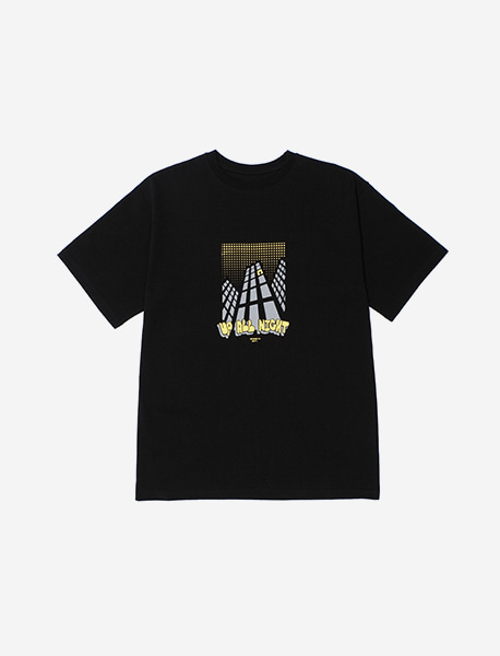 UP ALL NIGHT TEE - BLACK brownbreath