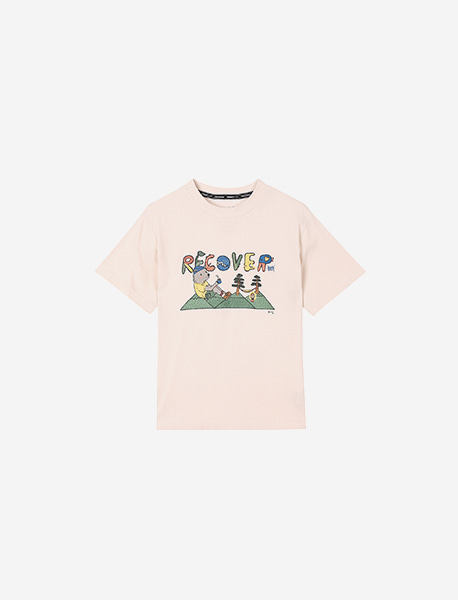 [KIDS] BXC RECOVER KIDS TEE - WHITE brownbreath