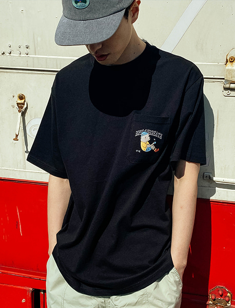 BXC POCKET TEE - BLACK brownbreath